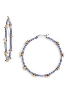 Rebecca Minkoff Star Embellished Wrapped Hoop Earrings