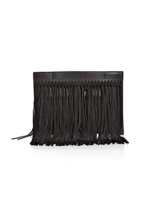 Rebecca Minkoff Stevie Leather & Suede Fringe Clutch