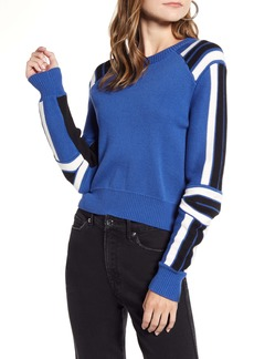 Rebecca Minkoff Stripe Detail Cotton Blend Sweater