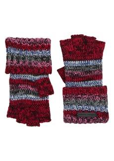 Rebecca Minkoff Stripe Knit Fingerless Gloves