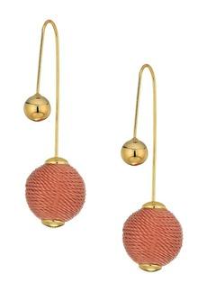Rebecca Minkoff Threaded Ball Hardwire Threader Earrings