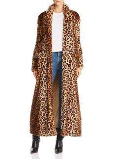 Rebecca Minkoff Turner Leopard-Print Faux-Fur Duster Coat