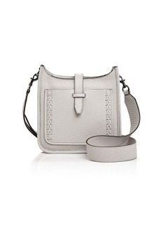 Rebecca Minkoff Unlined Whipstitch Feed Mini Pebbled Leather Crossbody