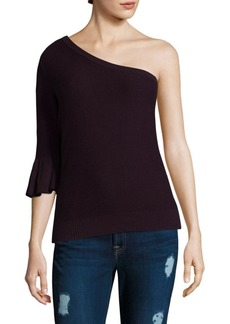 Rebecca Minkoff Wappo One-Shoulder Bell-Sleeve Top