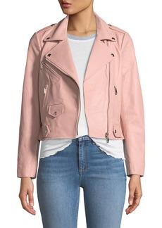Rebecca Minkoff Wes Leather Zip Moto Jacket