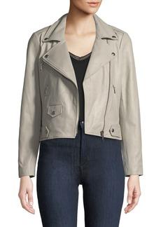 Wes Zip-Front Leather Moto Jacket