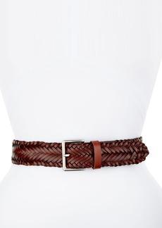 Rebecca Minkoff Wide Braided Leather Belt