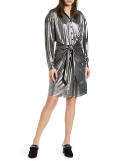 Rebecca Minkoff Willow Metallic Long Sleeve Shirtdress