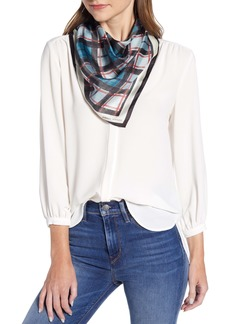 Rebecca Minkoff Winter Sky Plaid Square Silk Scarf