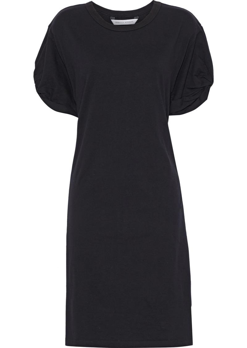 Rebecca Minkoff Woman Ally Twisted Cotton-jersey Mini Dress Black