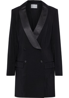 Rebecca Minkoff Woman Archie Double-breasted Cady Mini Tuxedo Dress Black
