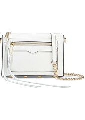 Rebecca Minkoff Woman Avery Textured-leather Shoulder Bag White