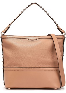 Rebecca Minkoff Woman Blythe Small Studded Textured-leather Shoulder Bag Tan