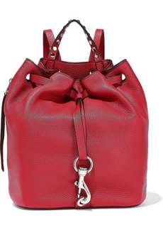 Rebecca Minkoff Woman Blythe Studded Pebbled-leather Backpack Claret