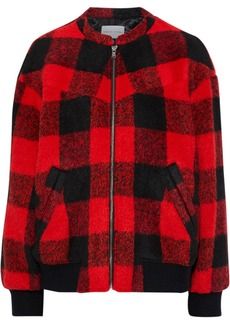 Rebecca Minkoff Woman Brenda Checked Brushed-woven Bomber Jacket Red