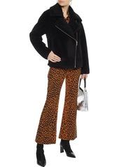 Rebecca Minkoff Woman Brutus Wool-fleece Jacket Black