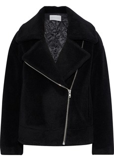 Rebecca Minkoff Woman Brutus Wool-fleece Jacket Black