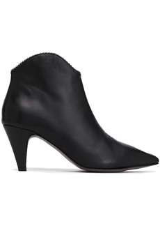 Rebecca Minkoff Woman Chain-embellished Leather Ankle Boots Black