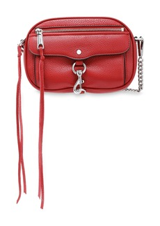 Rebecca Minkoff Woman Pebbled-leather Shoulder Bag Claret
