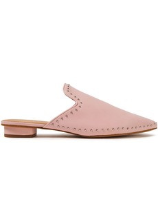 Rebecca Minkoff Woman Chamille Studded Leather Slippers Baby Pink