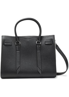 Rebecca Minkoff Woman Color-block Pebbled-leather Tote Black