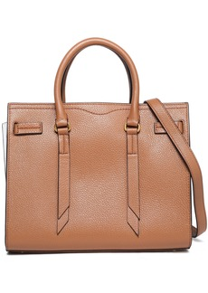 Rebecca Minkoff Woman Color-block Pebbled-leather Tote Light Brown