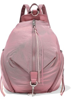 Rebecca Minkoff Woman Convertible Leather-trimmed Shell Backpack Bubblegum
