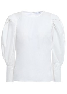 Rebecca Minkoff Woman Gathered Cotton-poplin Blouse White