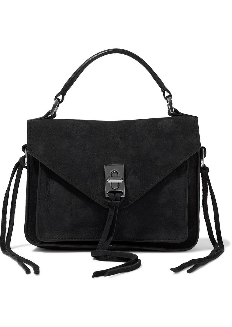 Rebecca Minkoff Woman Darren Suede Shoulder Bag Black