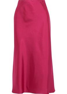 Rebecca Minkoff Woman Davis Satin-twill Midi Skirt Fuchsia