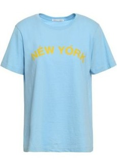 Rebecca Minkoff Woman Delaney Printed Cotton-jersey T-shirt Light Blue