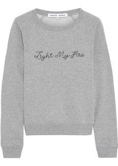 Rebecca Minkoff Woman Embroidered Cotton-blend Fleece Sweatshirt Gray