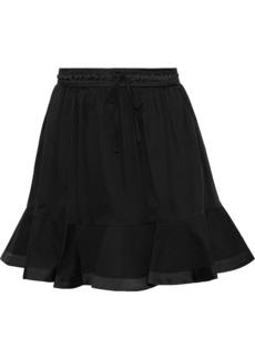 Rebecca Minkoff Woman Evaline Canvas-paneled Cotton Mini Skirt Black