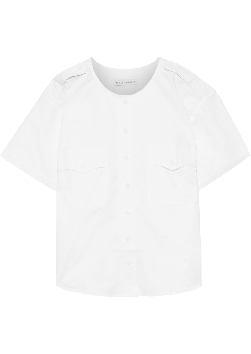 Rebecca Minkoff Woman Fallon Cotton-poplin Shirt White
