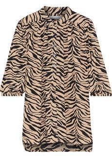 Rebecca Minkoff Woman Fleur Zebra-print Crepe Blouse Animal Print