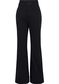 Rebecca Minkoff Woman Flora Stretch-cotton Twill Flared Pants Black
