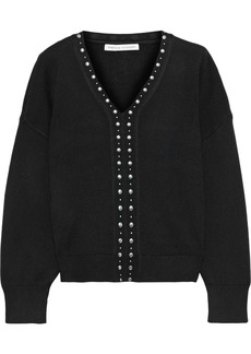 Rebecca Minkoff Woman Francesca Studded Knitted Sweater Black
