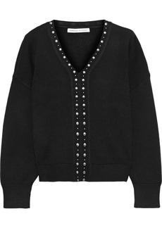 Rebecca Minkoff Woman Francesca Studded Knitted Sweater Black