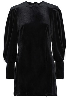 Rebecca Minkoff Woman Gwen Zip-detailed Velvet Mini Dress Black