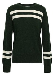 Rebecca Minkoff Woman Intarsia-knit Wool And Cashmere-blend Sweater Dark Green