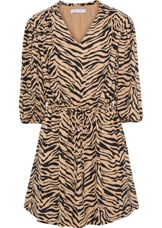 Rebecca Minkoff Woman Isabella Tiger-print Crepe Mini Dress Animal Print
