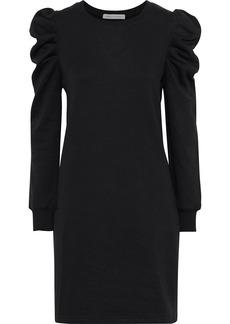 Rebecca Minkoff Woman Janine Mélange Cotton-blend Fleece Mini Dress Black