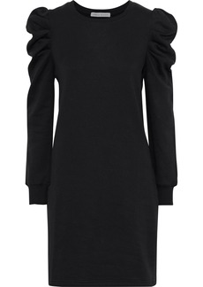 Rebecca Minkoff Woman Janine Gathered Cotton-blend Fleece Mini Dress Black