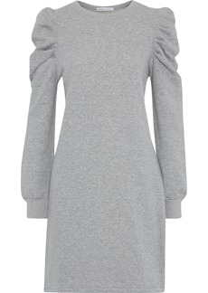 Rebecca Minkoff Woman Janine Gathered Cotton-blend Fleece Mini Dress Gray
