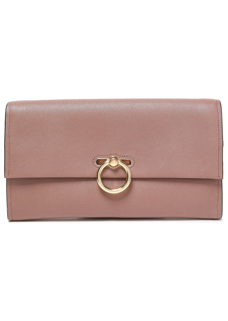 Rebecca Minkoff Woman Jean Textured-leather Clutch Antique Rose