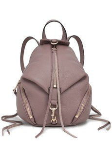 Rebecca Minkoff Woman Julian Convertible Textured-leather Backpack Taupe