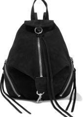 Rebecca Minkoff Woman Julian Convertible Textured-nubuck Backpack Black