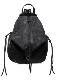 Rebecca Minkoff Woman Julian Convertible Textured-suede Backpack Black
