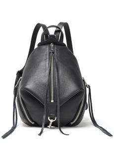 Rebecca Minkoff Woman Julian Mini Pebbled-leather Backpack Black