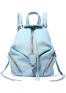 Rebecca Minkoff Woman Julian Pebbled-leather Backpack Light Blue